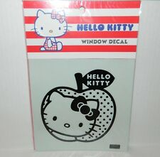 "HELLO KITTY WINDOW DECAL Apple Hello Kitty Face BOW* 6"" x 6"" NEW"
