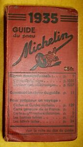 guide Michelin rouge France 1935