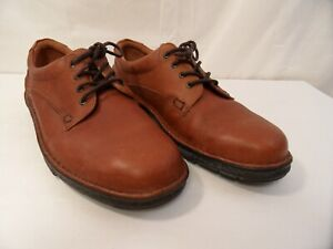 Rockport M2044 Mens Size 13W Casual Oxfords Lace Up Light Brown Textured Leather