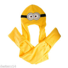 Despicable Me Minions Hooded Scarf Minion Paw Gloves Snood Hoodie Hood Authentic