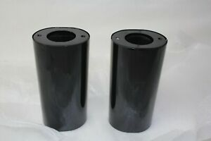 BLACK FL fork leg slider covers 1999 down Harley Road Glide cow bells EPS22941