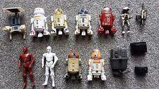Star Wars Figuras Lote a granel Astromech Droids R2-D2 K-3PO R-3PO R2-C4 R4-A22 Gonk