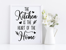Kitchen is the Heart of the Home Vinyl Decal Sticker Frames Cooking Decor Crafts
