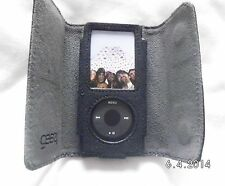 gear4 Black Genuine Leather case for ipod nano 4th gen 8GB  16GB