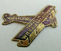 1930s Vintage WIEN ALASKA AIRWAYS Envelope Sticker ETIQUETTE, Foil Airplane