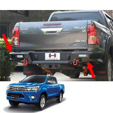 Rear Bumper Steel Hamer LED Lamp Matte Black Hook For Toyota Hilux Revo SR5 17