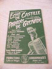 Eco di partizione Castille Besson paradiso Grenade Armand Tournel Prud'homme