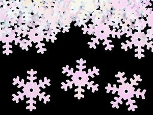 100 x 19mm Snowflake Sequins - white AB, sewing, card making / 1-100-00032-100