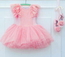 Anna Princess Ballerina Girls Dance Dress Fancy Birthday Gift Party Tutu Skirt