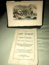 1857 Full page Plates, 8 Illustrations Drawn & Colored (The New World) CA Gold