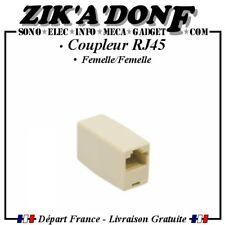 Coupleur RJ45 (Réseau, Ethernet, rallonge, adaptateur, prolongateur, LAN, CAT 5)