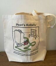 Tote Bag Knitting Shopping Craft Travel Canvas - Pearl's Knitwit: 10ft Scarf