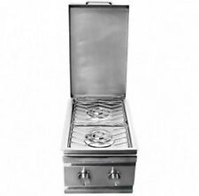RCS Stainless Steel Double Side Burner - RDB1  Natural Gas