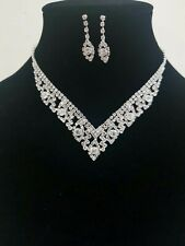 Women Fashion Blue /& Diamonte Necklace Set Party Wear UK Seller