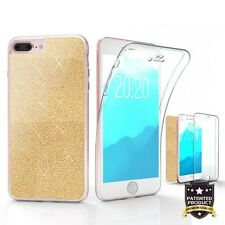 For iPhone 8 Plus,7 Plus Tri Max Full Body Screen Protector Case Champagne