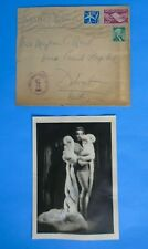 Marlene Dietrich Autographed Signed photo sent to fan in Hospital & envelope