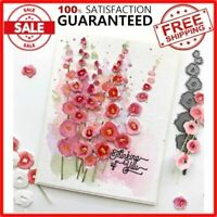 Hollyhocks Die Set Flower Metal Cutting Die Scrapbooking DIY Album Card Making