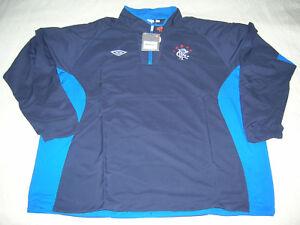 Glasgow Rangers Soccer Drill Top Scotland Umbro Football Training Shirt NEW  5XL
