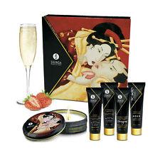 Massage et Cosmetique Kit Secret de Geisha Vin Pétillant Fraise - SHUNGA