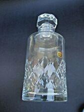 Vintage Bohemian / Czech Hand Cut Crystal Lique Decanter VGC Gift
