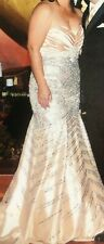 Women Sexy Mermaid Formal Gold Long Evening Party Prom Gown