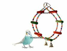 SKY PET ROUNDABOUT BUDGIE CANARY SMALL ANIMAL BIRD CAGE SWING TOY HOOP 5878
