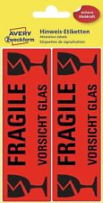 Etiketten Vorsicht Glas Fragile Paket versenden
