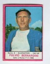 figurina CALCIATORI PANINI 1967/68 REC. ALLENATORE FULVIO BERNARDINI