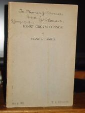 1926 Henry Groves Connor, North Carolina Politician Judge White Supremacy
