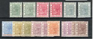 Gold Coast 1884-91 values to 2s + shades MH