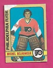 1972-73 OPC # 273 FLYERS MICHEL BELHUMEUR ROOKIE  HIGH # GOOD CARD (INV# C9395)