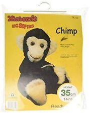 Chimp Soft Toy Kit - Make Your Own Monkey Cuddly Fur Fabric - Gift Children Sew