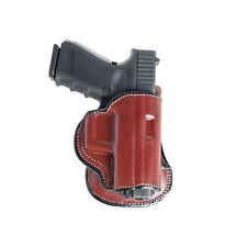 PADDLE LEATHER HOLSTER FOR GLOCK 19. OWB PADDLE ADJUSTABLE CANT.