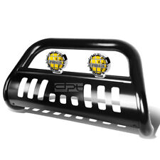 """FOR 05-15 TOYOTA TACOMA 2WD/4WD BLACK 3"""" BULL BAR GRILLE GUARD+AMBER FOG LIGHT"""