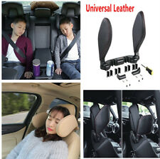 Black Leather Car SUV Seat Headrest Neck Support Pillow for Relax Sleeping Rest