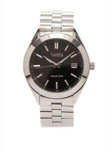VETTA MONTREAL Womens Watch VW0095 Steel Bracelet Black Sapphire Classic