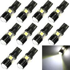10x T10 1.5W W5W 5050 SMD 4-LED XENON White Wedge Light Lamp Bulb