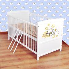 Babybett  Kinderbett - Juniorbett umbaubar 140x70 Weiß nr 16