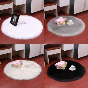 Fluffy Plain Sheepskin Rug Soft Faux Fur Rugs Room Mats Thick Wool Carpet