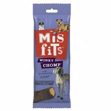 Misfits Wonky Chomp Dog Treats for Medium Dogs from 10-25 kg 1 x 170g Pack