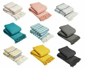 100%COTTON LARGE SIZE WOVEN SOFA BED SETTEE THROW CHAIR COVER BLANKET BEDSPREAD