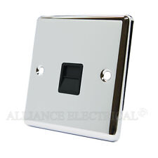 Polished Mirror Chrome Classical Telephone Socket Master Phone Outlet CPCTELMBL