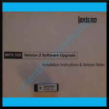 Lexicon MPX-500 firmware OS upgrade: version 2.02