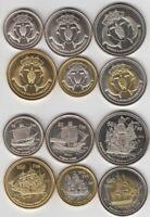 SERIE EUROPA 2012 (10,20,50,100,200 y 500 Francos) SIN CIRCULAR / UNC
