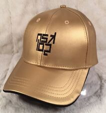 "NWT KANGOL ""ZEPHYR ADJ BASEBALL"" Cap Hat Faux Leather Gold Adjustable"