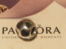 AUTHENTIC PANDORA SILVER BLACK MOTHER OF PEARL HEARTS CHARM - 790398MPB