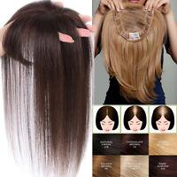 100% Remy Human Hair MonoSilk Women Topper Hairpiece Top Piece Wig for thin hair