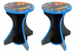 Multi Arcade Game Retro Arcade Stools (pair) - used with cocktail table arcade
