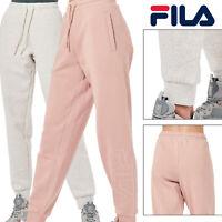 FILA Mitsu Womens Comfy Simple Drawstring Elasticated Lounge Fleece Jogger Pant