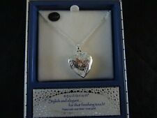 Bee Heart Locket Necklace Silver Rose Gold Plated Equilibrium